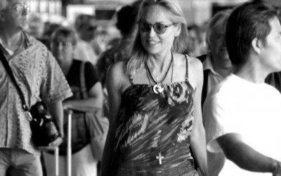 Sharon Stone wearing Smith's American dress